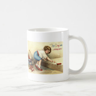 男の子のドラムビューグルの花火の爆竹 コーヒーマグカップ