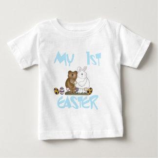 男の子のバニーイースター私の最初Tシャツおよびギフト ベビーTシャツ