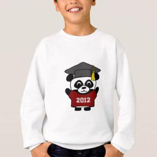 男の子のパンダのあずき色及び白の2012年の卒業生 スウェットシャツ