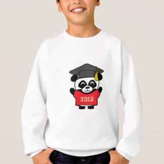 男の子のパンダ赤い及びベージュ色2012年の卒業生 スウェットシャツ