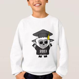 男の子のヒツジ黒い及び白の2011年の卒業生 スウェットシャツ