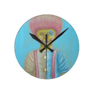 男の子のピエロ ラウンド壁時計