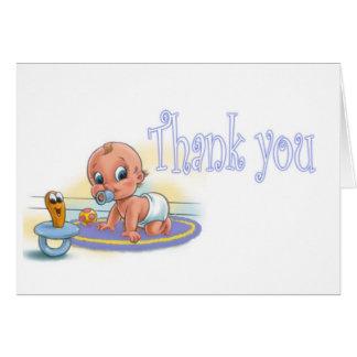男の子のベビーシャワー-ありがとう カード