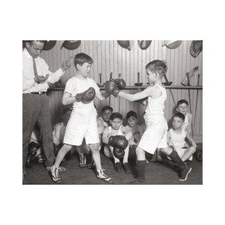 男の子のボクシングClub 1925年 キャンバスプリント