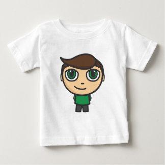 男の子のマンガのキャラクタ ベビーTシャツ