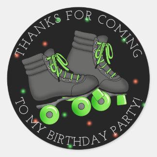 男の子のローラースケートの誕生日は感謝していしています ラウンドシール