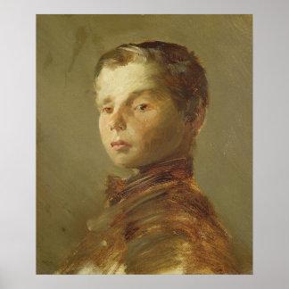 男の子の写真、1875年 ポスター