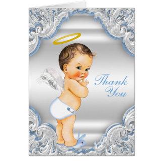 男の子の天使の洗礼は感謝していしています カード