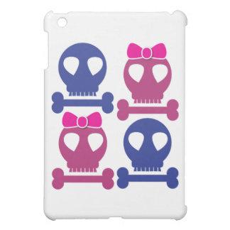 男の子の女の子のスカルのロカビリーのデザイン iPad MINIケース