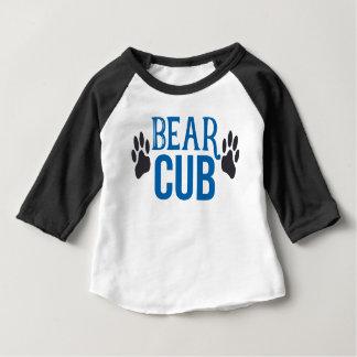 男の子の小熊の黒い袖のRaglan ベビーTシャツ