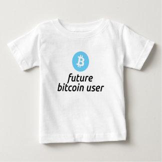 男の子の未来のBitcoinのユーザーのワイシャツ ベビーTシャツ