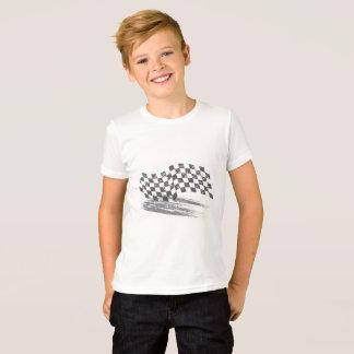 男の子の注意のカーレースのティー Tシャツ