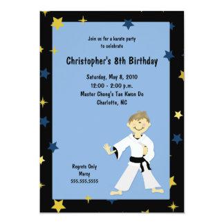 男の子の空手の武道の誕生会 カード
