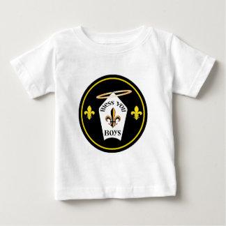男の子の紋章賛美して下さい ベビーTシャツ