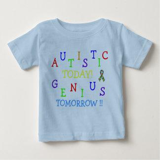 男の子の自閉症の天才! ~の乳児のクリーパー ベビーTシャツ