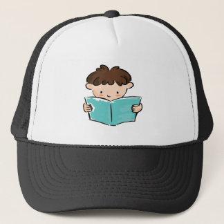 男の子の読書 キャップ