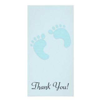 男の子の赤ん坊の足 カード