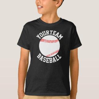 男の子の野球チーム、プレーヤー及びジャージー数ワイシャツ Tシャツ