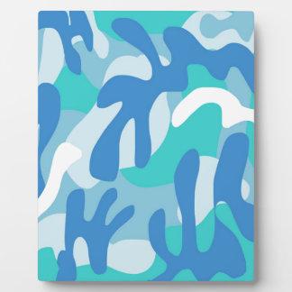 男の子の青の迷彩柄 フォトプラーク