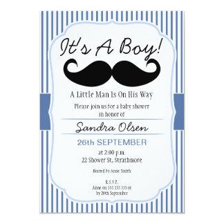 男の子の髭のベビーシャワーの招待状 12.7 X 17.8 インビテーションカード