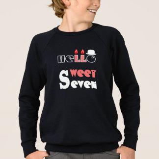 男の子の7年の誕生日のTシャツHQH スウェットシャツ