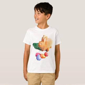 """男の子の""""イースターのウサギ""""のTシャツ(白い) Tシャツ"""