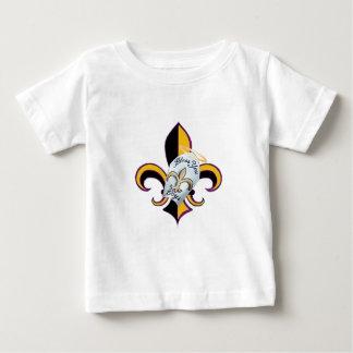 男の子の(紋章の)フラ・ダ・リ賛美して下さい ベビーTシャツ