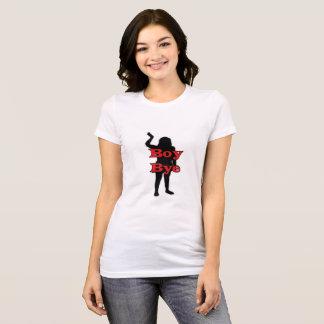 男の子のBYEのおもしろTシャツ Tシャツ
