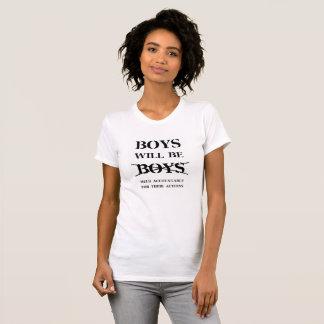 男の子はです明白に男の子-女性のT (自由の悪態) Tシャツ
