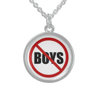 男の子はアイコンネックレスを許可しませんでした スターリングシルバーネックレス