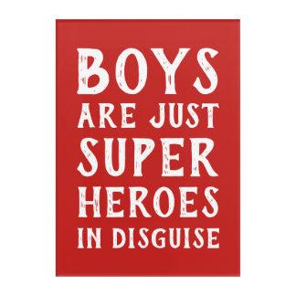 男の子は変装の壁の芸術のちょうど英雄です アクリルウォールアート