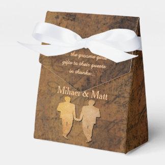 男の子は男の子の物語の本の陽気な結婚式の引き出物箱に会います フェイバーボックス