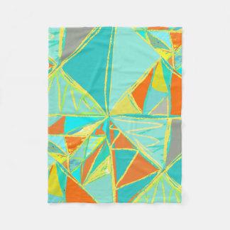 男の子部屋のモダンの抽象芸術の三角形パターン フリースブランケット