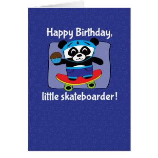 男の子-レッサーパンダのスケートボーダーのための誕生日 カード