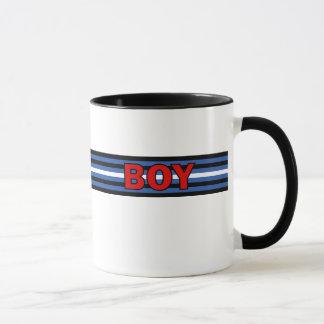 男の子(革旗)のマグ マグカップ