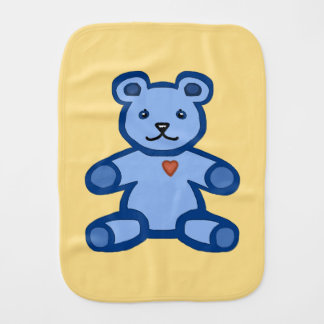 男の赤ちゃんのための青いテディー・ベア バープクロス