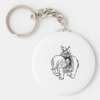 男の赤ちゃんの乗馬象の開運のお守り ベーシック丸型缶キーホルダー