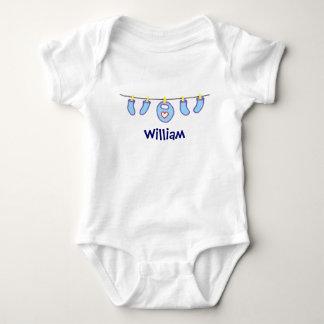 男の赤ちゃんの洗濯それは男の子です! 名前入り ベビーボディスーツ