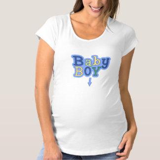 男の赤ちゃんの矢の母性の上 マタニティTシャツ