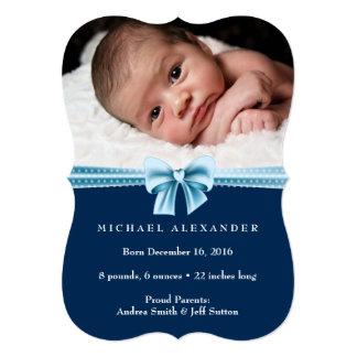 男の赤ちゃんの誕生の発表のıの写真カード 12.7 x 17.8 インビテーションカード