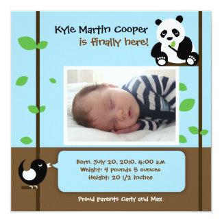 男の赤ちゃんの誕生の発表 カード