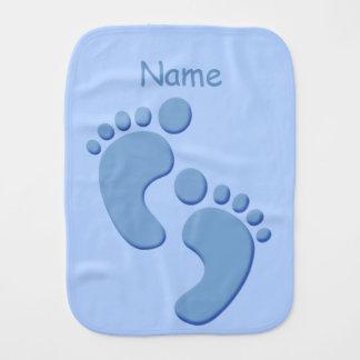 男の赤ちゃんの足跡の小さい足のカスタムのバープクロス バープクロス
