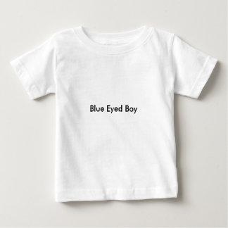 男の赤ちゃんの青い目の男の子の」Tシャツ ベビーTシャツ