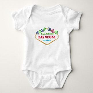 男の赤ちゃんラスベガスはTシャツを妨げます ベビーボディスーツ