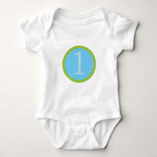 男の赤ちゃん最初Brithday ベビーボディスーツ
