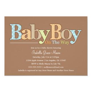 男の赤ちゃん|のベビーシャワーの招待 カード