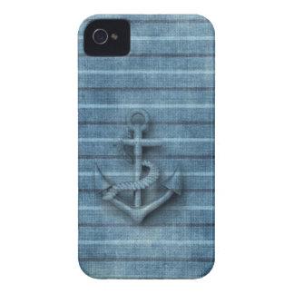 男らしいヴィンテージの航海ので上品ないかり Case-Mate iPhone 4 ケース
