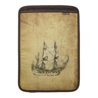 男らしいヴィンテージの航海ので上品な古代船 MacBook スリーブ