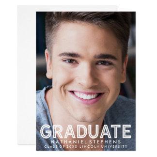 男らしい卒業の写真の発表 カード