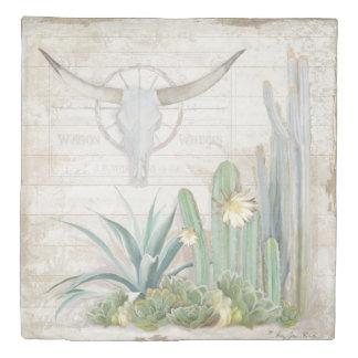 男らしい家の装飾の長角牛牛スカルの木の芸術 掛け布団カバー